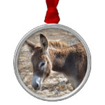 Adorable Donkey Metal Ornament