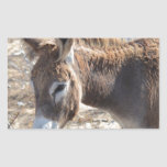 Adorable Donkey Rectangular Sticker