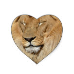 Adorable Lion Heart Sticker