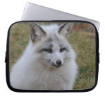Adorable White Fox Laptop Sleeve
