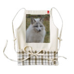 Adorable White Fox Zazzle HEART Apron