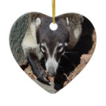 Adorable White Nosed Coati Ceramic Ornament