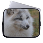 Beautiful White Swift Fox Laptop Sleeve