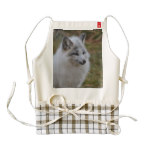 Beautiful White Swift Fox Zazzle HEART Apron