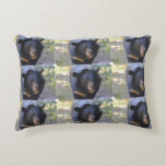 Black Spectacled Bear Decorative Pillow