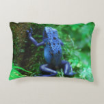 Blue Poison Arrow Frog Accent Pillow