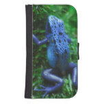Blue Poison Arrow Frog Galaxy S4 Wallet Case