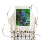 Blue Poison Arrow Frog Zazzle HEART Apron