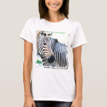 Bold Zebra Ladies T-shirt