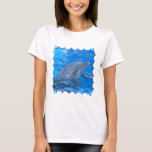 Bottlenose Dolphin Ladies Fitted T-Shirt