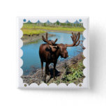 Bull Moose Square Pin
