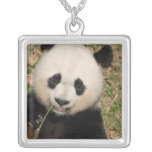 Cute Giant Panda Bear Silver Plated Necklace