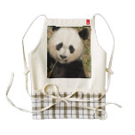 Cute Giant Panda Bear Zazzle HEART Apron