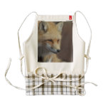 Cute Red Fox Zazzle HEART Apron