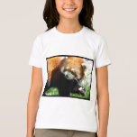 Cute Red Panda Bear Girl's T-Shirt