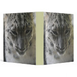 Cute Snow Leopard Binder