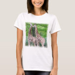 Giraffe Pair Ladies T-Shirt