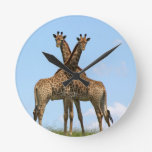Giraffe Twins Clock