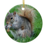 Grey Squirrel Ornament