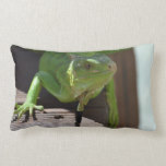 Iguana in the Tropics Lumbar Pillow