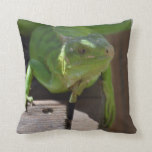 Iguana in the Tropics Throw Pillow
