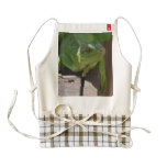 Iguana in the Tropics Zazzle HEART Apron