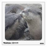 Kissing River Otters Wall Sticker