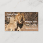 Lion and Cub Business Card