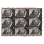 Lop Eared Rabbit Throw Blanket