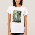 Madagascar Lemur Ladies Fitted T-Shirt