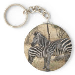 Mother and Baby Zebra  Keychain