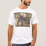 Mother and Baby Zebra  Men's T-Shirt