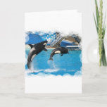 Orca Whales Greeting Card