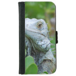Peek-a-boo Iguana Wallet Phone Case For iPhone 6/6s