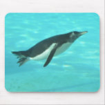 Penguin Swimming Underwater Mouse Pad