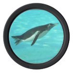 Penguin Swimming Underwater Poker Chip Set