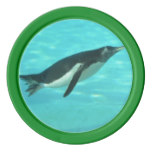 Penguin Swimming Underwater Poker Chips Set
