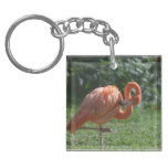 Perfect Pink Flamingo Keychain