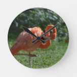 Perfect Pink Flamingo Round Clock