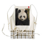 Petulant Panda Bear Zazzle HEART Apron