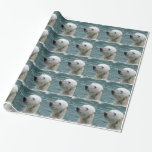 Polar Bear Profile Wrapping Paper