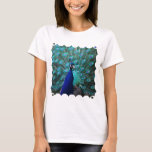 Pretty Peacock Ladies Fitted T-Shirt