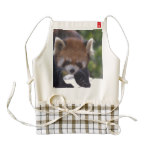 Prowling Red Panda Zazzle HEART Apron
