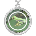 Red Eye Green Tree Frog Necklace