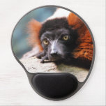 Resting Red Ruffed Lemur Gel Mouse Pad