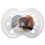 Resting Red Ruffed Lemur Pacifier