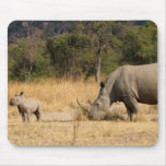 Rhinoceros Family Mouse Pad