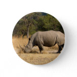 Rhinoceros Family Round Button