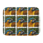 Ruffled Blue and Gold Macaw Burp Cloth