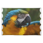 Ruffled Blue and Gold Macaw Cloth Placemat